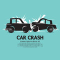 Car crash vector illustration eps Stock Images