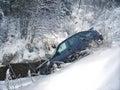 Car crash winter Royalty Free Stock Photo