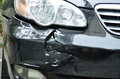 Car crush accident damaged by Royalty Free Stock Images