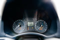 Car dashboard detail front driver view Royalty Free Stock Photo