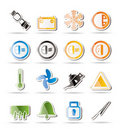 Car Dashboard icons Stock Image