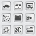 Car dashboard icons for the control panel of the Stock Photos