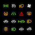 Car dashboard icons set of Royalty Free Stock Photos