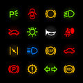 Car dashboard icons set of Royalty Free Stock Image