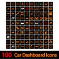 Car dashboard icons vector illustration Royalty Free Stock Photo