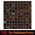 100 coche icono