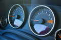Car dashboard and tachometer Royalty Free Stock Photo