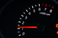 Car dashboard  tachometer Royalty Free Stock Photo