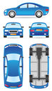 Car in different views Royalty Free Stock Images