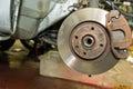 Car disc brakes Royalty Free Stock Photo