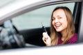 Car driver woman Royalty Free Stock Photo