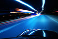 Night, high-speed car Royalty Free Stock Photo