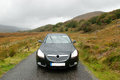 Car in Dunloe's Gap, Ireland Stock Photography