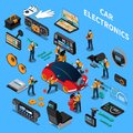 Car Electronics And Service Concept Royalty Free Stock Photo
