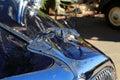 Car emblem unique classic chrome Stock Images