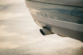 Car emission smoke out exhaust pipe Royalty Free Stock Photo