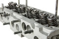 Car engine cylinder head diagonal view Royalty Free Stock Photo