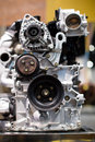Car engine a dismantled side view close up Stock Photography