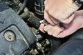 Car engine mechanic Royalty Free Stock Photo