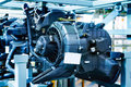 Car engine modern powerful motor unit clean and shiny Stock Photo