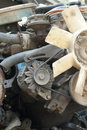 Car engine scrap metal from Stock Image