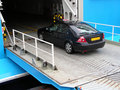 Car Entering Ferry. Royalty Free Stock Photos
