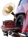 In car entertainment 1940s style Royalty Free Stock Image