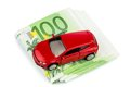 Car on euro notes Royalty Free Stock Photos