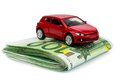 Car on euro notes Stock Images