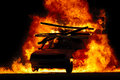 Car and fire Royalty Free Stock Photo