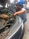 Car fixing Royalty Free Stock Photo