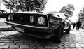 Car ford mustang mach berlin may black and white th oldtimer tage berlin brandenburg may berlin germany Stock Photo