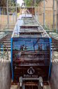 The car funicular cable car in Baku, Azerbaijan. July 5, 2015