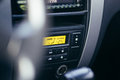 Car gage panel interior inside view with automatic transmission Stock Photography