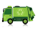 Car garbage truck with a white background Royalty Free Stock Images