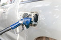 Car with gas refill Royalty Free Stock Photography