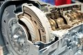 Car gear box with automatic transmission. Royalty Free Stock Photo