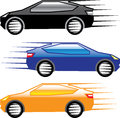 Car going fast Vector Royalty Free Stock Photo