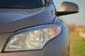Car headlight close-up Royalty Free Stock Photography