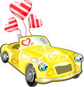 Car with hearts cartoon Stock Image