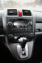 The car honda cr v gearshift Royalty Free Stock Photography