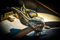 Car hood ornament vintage with wings Royalty Free Stock Photography