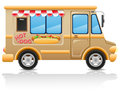 Car hot dog fast food vector illustration Royalty Free Stock Image