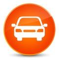 Car icon elegant orange round button