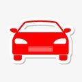 Car icon sticker