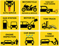 Car icons : Auto service Royalty Free Stock Images