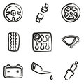 Car Icons Freehand Royalty Free Stock Photo