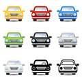 Car icons vector sport road driver Royalty Free Stock Images
