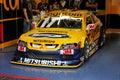 Car ingo racing stock yellow Стоковые Фотографии RF