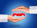 Car insurance hands and concept Royalty Free Stock Image